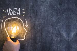 In testa</br>solo</br>buone idee